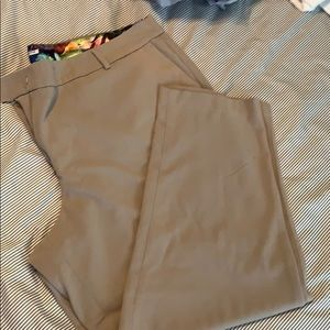 Tan trouser straight leg